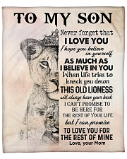 """Lion Never Forget That I Love You Mom To Son Fleece Blanket - 50"""" x 60"""" front"""