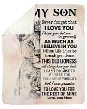 Lion Never Forget That I Love You Mom To Son Sherpa Fleece Blanket tile