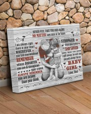 Never Feel That You Are Alone Dad To Daughter 14x11 Gallery Wrapped Canvas Prints aos-canvas-pgw-14x11-lifestyle-front-18