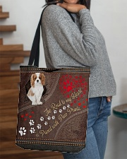 Cavalier-King-Charles-Spaniel-dog-road-to-heart All-over Tote aos-all-over-tote-lifestyle-front-09