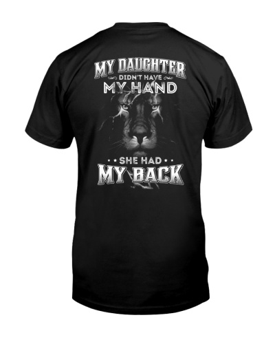 she had my back - lion - gift for dad