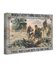 When Everything Goes To Hell Veteran 24x16 Gallery Wrapped Canvas Prints front