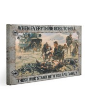 When Everything Goes To Hell Veteran Gallery Wrapped Canvas Prints tile