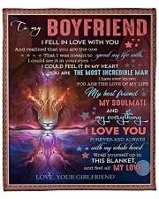 """I Fell In Love With U Girlfriend To Boyfriend Fleece Blanket - 50"""" x 60"""" front"""