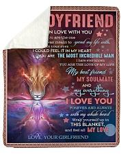 """I Fell In Love With U Girlfriend To Boyfriend Sherpa Fleece Blanket - 50"""" x 60"""" thumbnail"""