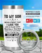 Never Forget I Love U Don't Do Stupid Mom to Son 20oz Tumbler aos-20oz-tumbler-lifestyle-front-48