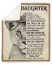 """Never Forget That I Love U-Lion Dad To Daughter Sherpa Fleece Blanket - 50"""" x 60"""" thumbnail"""