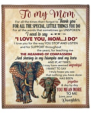 """Thanks 4All The Special Little Things U Do-For Mom Fleece Blanket - 50"""" x 60"""" front"""