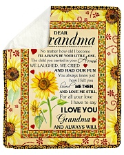 "Grandma I'll always be your little one I love you Sherpa Fleece Blanket - 50"" x 60"" front"