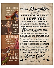 """Never Forget That I Love U Dad To Daughter Fleece Blanket - 50"""" x 60"""" front"""