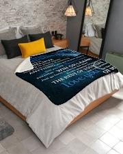 "To My Amazing Grandson Grandma To Grandson Sherpa Fleece Blanket - 50"" x 60"" aos-sherpa-fleece-blanket-lifestyle-front-02"