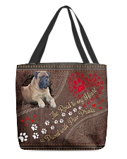 English-Mastiff-dog-theroad-to-my-heart All-over Tote back