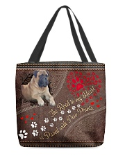 English-Mastiff-dog-theroad-to-my-heart All-over Tote front