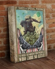 It Takes A Special Person Veteran 11x14 Gallery Wrapped Canvas Prints aos-canvas-pgw-11x14-lifestyle-front-09