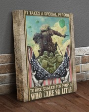 It Takes A Special Person Veteran 11x14 Gallery Wrapped Canvas Prints aos-canvas-pgw-11x14-lifestyle-front-10