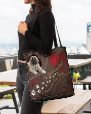 Spanish-Mastiff-dog-the-road-to-my-heart All-over Tote aos-all-over-tote-lifestyle-front-04