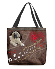 Spanish-Mastiff-dog-the-road-to-my-heart All-over Tote front