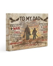 It's Not Easy For A Man To Raise A Child To Dad 14x11 Gallery Wrapped Canvas Prints front