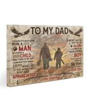 It's Not Easy For A Man To Raise A Child To Dad Gallery Wrapped Canvas Prints tile