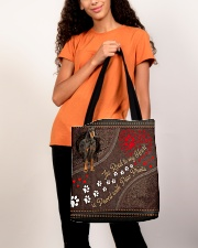 Gordon-Setter-dog-the-road-to-my-heart All-over Tote aos-all-over-tote-lifestyle-front-06