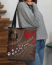 Gordon-Setter-dog-the-road-to-my-heart All-over Tote aos-all-over-tote-lifestyle-front-09