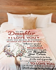 """Never Forget That I Love U Mom To Daughter Large Fleece Blanket - 60"""" x 80"""" aos-coral-fleece-blanket-60x80-lifestyle-front-02"""