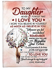 """Never Forget That I Love U Mom To Daughter Large Fleece Blanket - 60"""" x 80"""" front"""