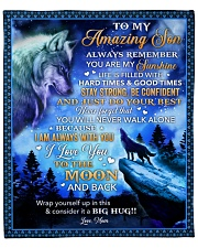 """Always Remember U Are My Sunshine Wolf Mom To Son Fleece Blanket - 50"""" x 60"""" front"""
