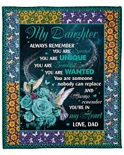 """Daughter Always Remember You're In My Heart Fleece Blanket - 50"""" x 60"""" front"""