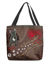 French-Bulldog-dog-the-road-to-my-heart All-over Tote back