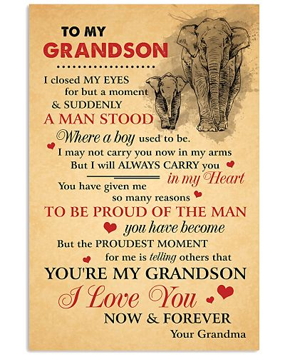 Grandson Elephant I love You Now And Forever