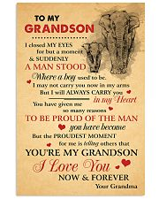 Grandson Elephant I love You Now And Forever 11x17 Poster front