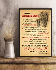 Grandson Elephant I love You Now And Forever 11x17 Poster lifestyle-poster-3