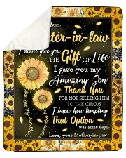 "To My Daughter-In-Law I Gave You My Amazing Son Sherpa Fleece Blanket - 50"" x 60"" front"