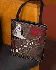 Alaskan-Malamute-dog-the-road-to-my-heart-All All-over Tote aos-all-over-tote-lifestyle-front-02