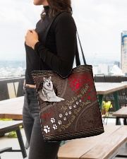 Alaskan-Malamute-dog-the-road-to-my-heart-All All-over Tote aos-all-over-tote-lifestyle-front-04