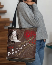 Alaskan-Malamute-dog-the-road-to-my-heart-All All-over Tote aos-all-over-tote-lifestyle-front-09