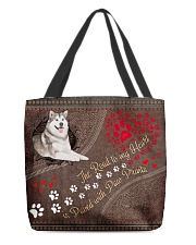 Alaskan-Malamute-dog-the-road-to-my-heart-All All-over Tote back