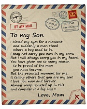 """I closed my eyes for a moment air mail Mom to Son Fleece Blanket - 50"""" x 60"""" front"""