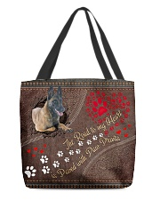 Belgian-Malinois-dog-the-road-to-my-heart All-over Tote back