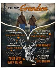 """Wherever Your Journey In Life - Deer To Grandson Fleece Blanket - 50"""" x 60"""" front"""