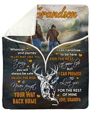 "Wherever Your Journey In Life - Deer To Grandson Sherpa Fleece Blanket - 50"" x 60"" thumbnail"