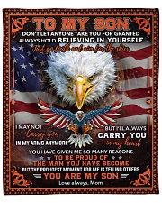"""Don't Let Anyone Take You For Granted Eagle To Son Fleece Blanket - 50"""" x 60"""" front"""