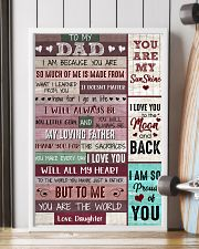 Dad Thanks 4The Sacrifices U Make Every Day ILoveU 11x17 Poster lifestyle-poster-4