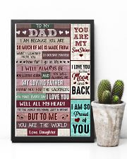 Dad Thanks 4The Sacrifices U Make Every Day ILoveU 11x17 Poster lifestyle-poster-8