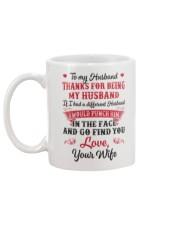 Thanks For Being My Husband Mug back