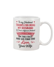 Thanks For Being My Husband Mug front