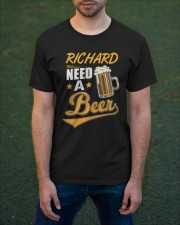 Personalized Name Need A Beer Classic T-Shirt apparel-classic-tshirt-lifestyle-front-42
