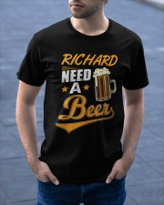 Personalized Name Need A Beer Classic T-Shirt apparel-classic-tshirt-lifestyle-front-46