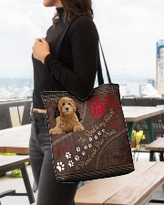 Labradoodle-dog-the-road-to-my-heart All-over Tote aos-all-over-tote-lifestyle-front-04